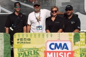 The Nashville Sound Image Crew (left-right) Tim Ziegler, Bernie Broderick (EAW), Heather Paige Vaughn, Peter McDonough