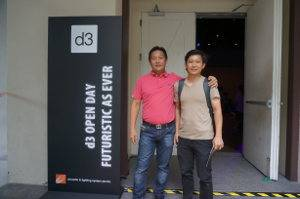 (L-R): Edwin with colleague from Aims Productions