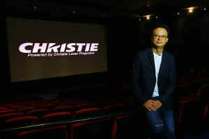 Vincent Tsang, National Technical Manager, Vieshow Cinemas, supervised the installation and commissioning of the dual Christie Mirage 4KLH system used for the movie premiere