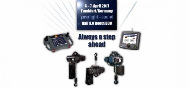 Prolight + Sound: ChainMaster Bühnentechnik GmbH Introduces D8plus StageOperator Series CM-850
