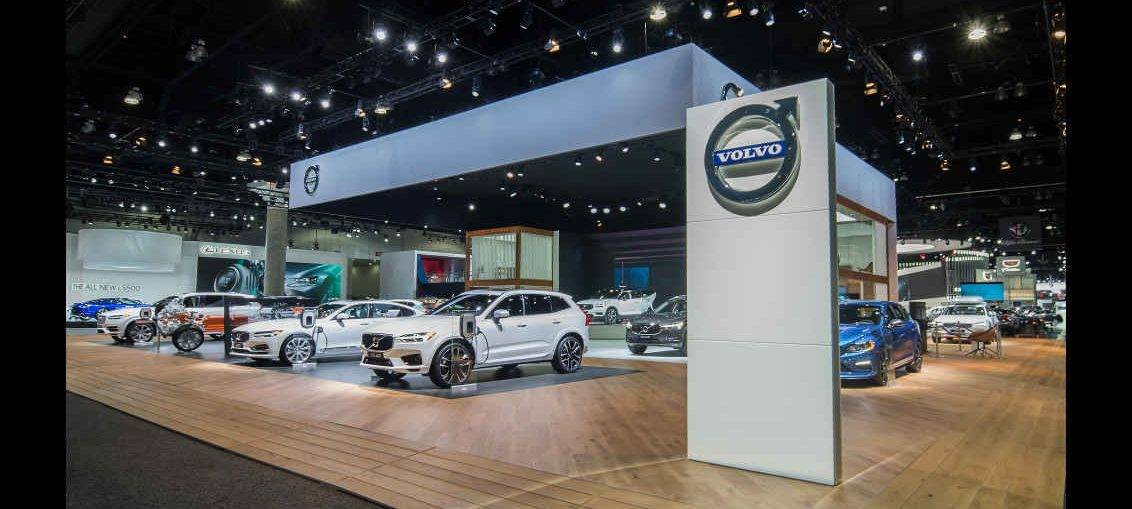USA Creative Technology Turns To Fuze Wash For Volvo Booth At - Car show booth